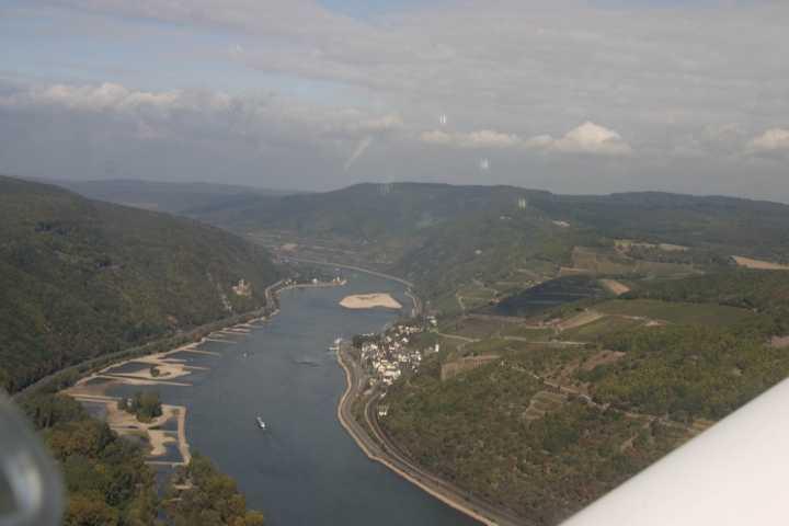 Der Rheingau von oben
